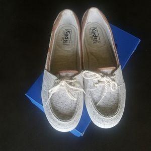 Keds- Glimmer Salt/ Pepper Cream Shoes